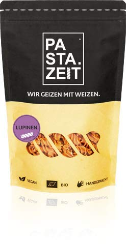 PASTAZEIT Bio Lupinen Nudeln - Lupinen Fusilli, Low Carb Nudeln aus Bio Lupinenmehl - Proteinreich, handgemacht, vegan & weizenfrei (5 x 250g)