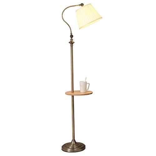 zlw-shop Luz para Leer Lámpara de pie Americana, Moderna lámpara de pie Vertical Minimalista LED Sofá Lámpara de Mesa de café Lámpara de Mesa Lámpara de Mesa Vertical Creativa Retro Luz de Noche