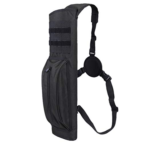 XTACER Tactical Heavy Duty Quiver Hunting Training Archery Arrow Quiver Holder Shoulder Bag Molle Pouch (Black)