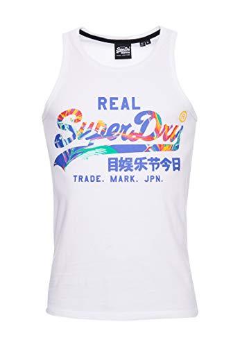 Superdry VL Infill Vest Camiseta sin Mangas, Blanco (Optic 01c), XXS para Hombre