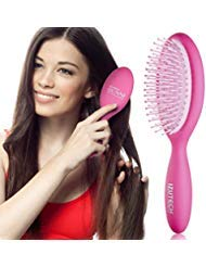 IZUTECH Pro Bunni Soft Wet/Dry Detangling Hair Round Paddle Brush for Women with Air Cushion (Pink)
