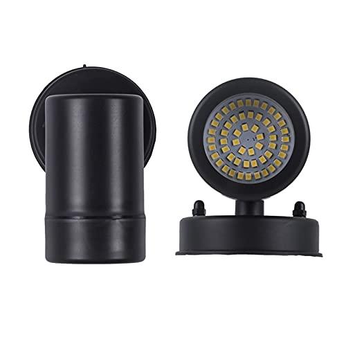 QAZWSXED LESANGBAIHUODIAN Modernas Luces de Pared LED al Aire Libre IP65 Lavado de Pared Pórchido Light Decoration Spotlight Fit Fall Light Light Lights GU10 Bulb (Emitting Color : 5W Warm White)