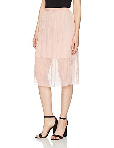 BCBGeneration Women's Midi Tulle Skirt, Rose Smoke, Medium