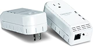 TRENDnet 500 Mbps Powerline Ethernet AV Adapter Kit with Bonus Outlet TPL-402E2K (White) (B0050AMJXG) | Amazon price tracker / tracking, Amazon price history charts, Amazon price watches, Amazon price drop alerts