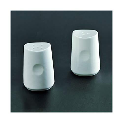 LONGDOM Designer Salz- und Pfefferstreuer Gewürzstreuer Keramik Weiss 2er Set - dekorativ und zeitlos