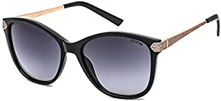 Guess Classic Square Women's Sunglasses, Shiny Black with Grey Lenses GF6104 01A Lens 57mm