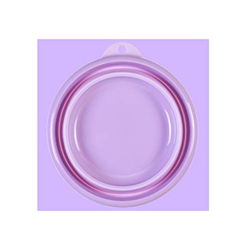 CAO-FU Lavabo Pliant Pliable De Voyage Camping Camping Extérieur Multifonctionnel, Randonnée, Contenant De Lavage Incassable (Color : Purple, Size : XXL)