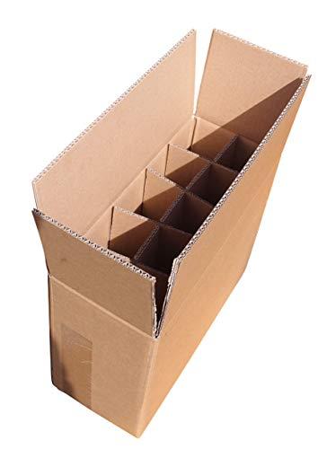Orient Feinkost - Caja de cartón para 10 botellas de cerveza (5 unidades, 0,33-0,5 L)