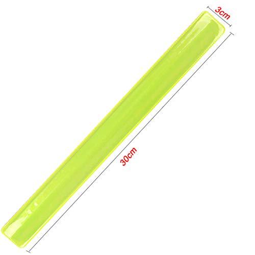 LAKIND 16PCS Reflektorbänder Schnapparmbänder Klatscharmband Sicherheitsband Reflektierend für Jogger und Radfahrer (16pcs) - 3