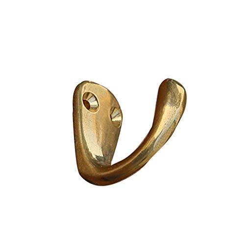 Mingtongli Messing-Kleidung-Hut Gürtel Solid Haken Weinlese-hölzerne Tür-Rückwandschrank Wandhalter Home Decoration