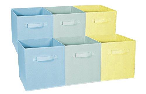 Sorbus Cubo de almacenaje plegable, ideal para habitación del bebé, sala de juegos, clóset, organización del hogar, Azul pastel,...