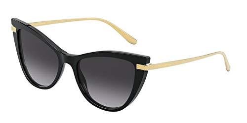 Dolce & Gabbana LOGO PLAQUE DG 4381 BLACK/GREY SHADED 54/18/140 Damen Sonnenbrillen