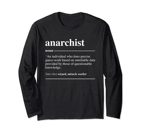 Definición anarquista Funny Sustantivo Manga Larga