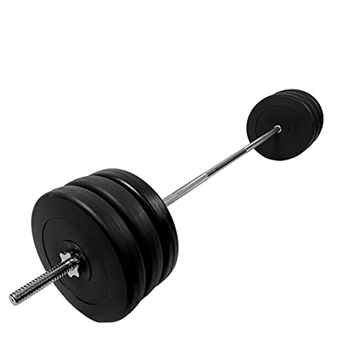 MegaShape Adjustable Barbell Set - Barbell Weights Set 50kg/70kg/90kg/110kg - Plates Weight Bar - Barbell Bar with Weights for Men Weight Lifting Bar and Weights Set for Strength Training Home Gym