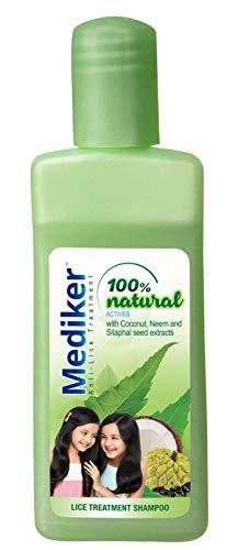 Mediker Champú antipiojos de hierbas ayurvédico con aceite de coco, 50 ml