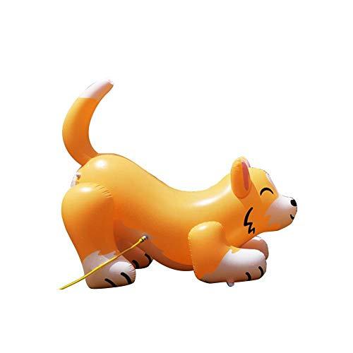QUUY Riesiges Aufblasbarer Sprinkler Spielzeug Übergroßes Aufblasbarer Hunde Garten Rasen Sprinkler Spielzeug, Sommer Outdoor Wasserspielzeug Für Kinder, 200 X 95 X 185 cm