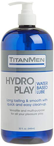 Doc Johnson TitanMen - Hydro Play Water Based Lube - Long lasting & Smooth with quick & easy clean up - Versatile and multi-purpose for all your pleasure play - 32 fl oz (946.3 mL)