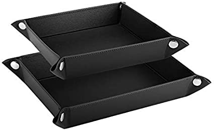 Luxspire Valet Tray Desk Storage Plate for Key Coin Phone Jewelry Wallet Catchall Tray Small /& Medium Size PU Leather Tray, Starry Night 2 Pack Men Women Jewelry Key Tray