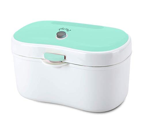 MEMI Cozy Wipe Warmer and Dispenser | Modern | Convenient | Neat Design | USB Charging with Plug| Baby Gift | Green