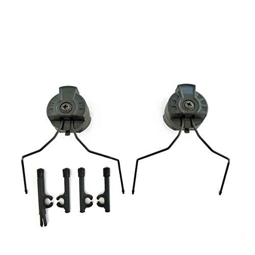 Armorwerx Adaptadores de fone de ouvido de comunicação universal para capacetes táticos equipados com trilho acessório, Peltor Comtac