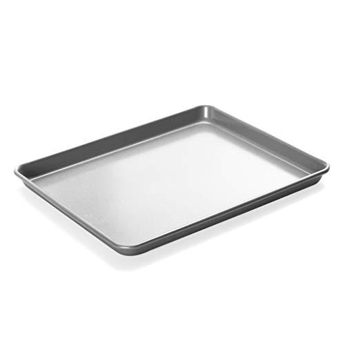 ZHANGXIAO Bakplaat, Zilver Koolstofstaal Vierkant Grote Niet Sticky Oven Bakken Cake Muffin Gegrilde Kippenvleugels