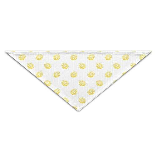 hanjianqu Pet Triangle Bandana Cute Lemon Seamless Art Washable Dog Puppy Scarf Bib Babys Neckerchief Accessories