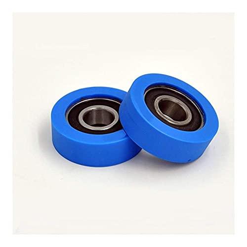 FMTZZY Rodamiento de repuesto duradero firme seguro PU 6202 poliuretano cubierta cojinete (2 unids) eje 15mm PU620248-15 uretano cubierta PU6202 rodamientos 15x48x15mm rodamiento de bolas
