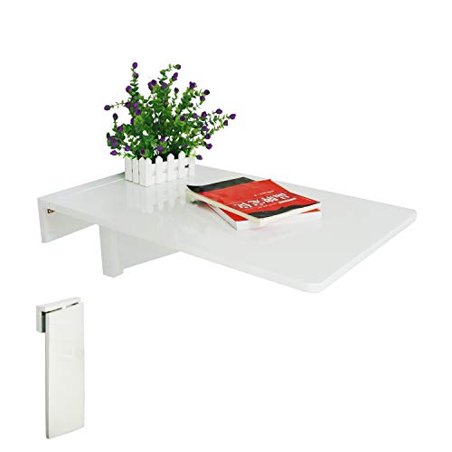 LiRen-Shop JinQi Wall-mounted Drop-leaf Table,Simple and folding,70x45cm,White