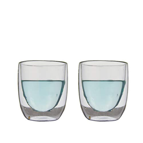 QDO Elements Boiled - Set di 2 Bicchieri a Doppia Parete, 180 ml