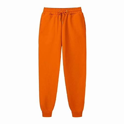 LIMILI Enge Jogginghose Herren Jogger Freizeithose Fitness Herren Sportswear Black Gym Jogging Jogginghose-Orange_XL