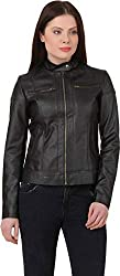 Comfort Zonee Hot of Full Sleeves Pu Leather Jacket for Women and Girls