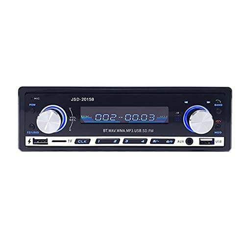Altavoz De Manos Libres De Bluetooth, Receptor De Radio FM, Reproductor De MP3, Compatibilidad Con La Entrada USB/SD/AUX, Puede Cargar Teléfonos Móviles, Pantalla De Tiempo