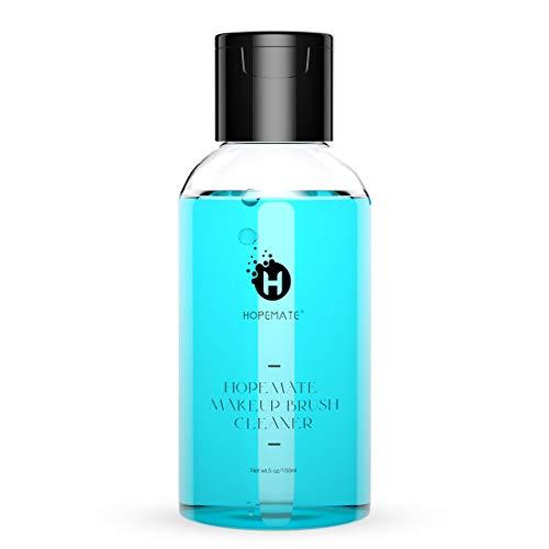 HOPEMATE Makeup Brush Washing Solution, Cruelty Free Beauty Sponge Puff Washer, Instantly Wash off Cosmetics, Oil from Brushes, Makeup Brush Washing Shampoo, 5 oz