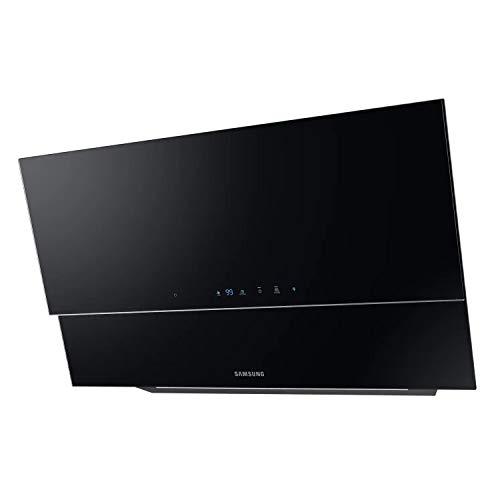 Samsung NK36N9804VB - Campana decorativa inclinada, ancho 90 cm, Touch Control, Sensor de Ventilación, Auto Conectividad con Bluetooth, negro