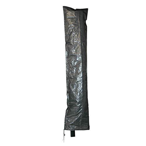 Moritz beschermhoes grijs voor parasol tot een diameter van 3,5 meter of 3 x 3 meter met ritssluiting en stok 230 x 50/58 cm scherm paraplu tuinmeubelen beschermfolie