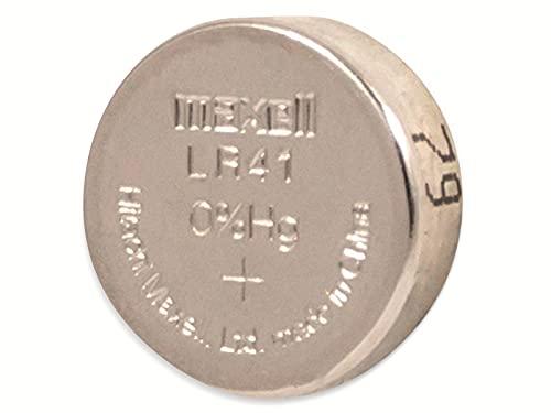 Maxell Batterie Alkaline Knopfzelle Typ LR41, 10er Blister