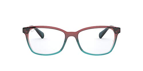 Ray-Ban RX5362 Square Prescription Eyeglass Frames, Trigradient Blue, Red, Light Blue/Demo Lens, 52 mm