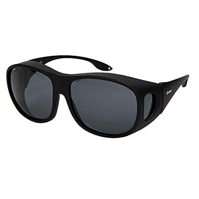 Yodo Fit Over Glasses Sunglasses with Polarized Lenses for Men and Women,Black