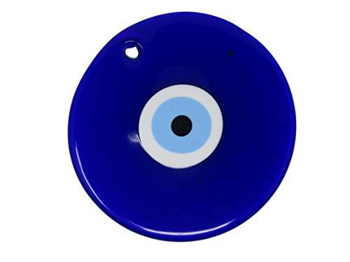 Jeannieparnell Extra Grande 21 cm (8,5 Pulgadas) Lucky Evil Eye Nazar Boncuk Cristal Griego Turco para Colgar Buena Suerte protección