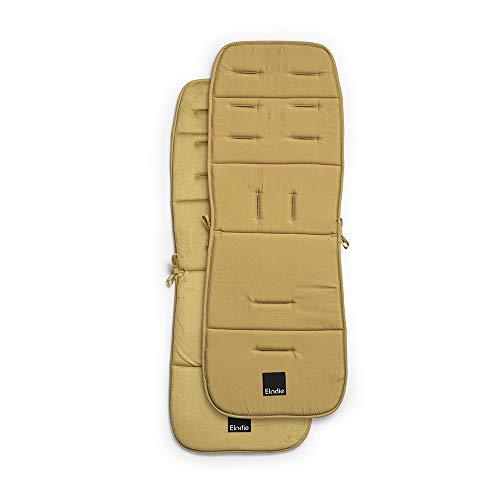 Elodie Details Colchoneta Universal para Silla de Paseo Reversible Acolchado Lavable CosyCushion 85 x 31 cm (Gold)