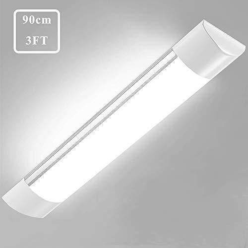 Bellanny Plafoniera LED Soffitto 30W, 90cm -3600LM -6500K Bianco freddo Ultraslim Plafoniere LED Lampada da soffitto Lampadario Cucina, per Garage Officina Ufficio Bagno Showroom
