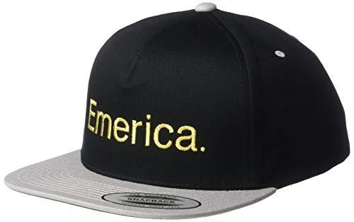 Emerica Herren Pure Snapback Baseball Cap, schwarz/Silber, Einheitsgröße