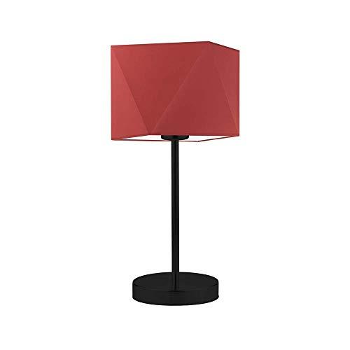 WUHU - Lámpara para mesita de noche, color rojo y negro