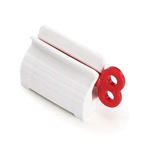 QIEP Rolling Tube Tandpasta Squeezer Tandpasta Stoelhouder Stand Roteren Tandpasta Dispenser voor Badkamer Kaptafel Keuken (rood)