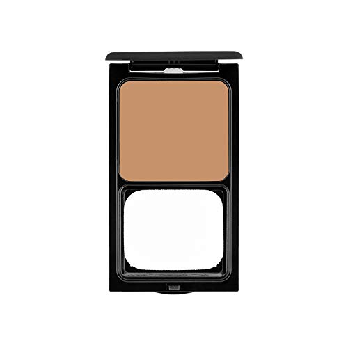 Cream to Powder Foundation Compact by Sacha Cosmetics, Best Natural Matte Makeup to give Flawless Looking Skin, Medium to Full Coverage, Normal to Oily Skin, 0.45 oz, Perfect Caramel