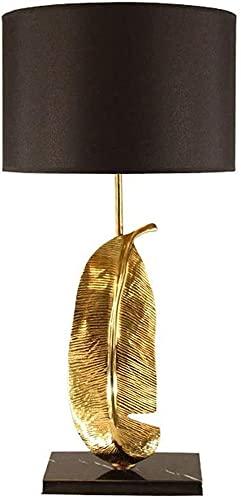 Lámpara Escritorio Lámpara de mesa, bajo consumo, hoja de cobre, estilo retro idyll Lámpara de mesa de tela fuerte, Estudio de sala de supervivencia, lámpara de noche para dormitorio, lámpara de mesa