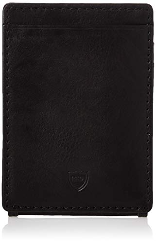 Columbia Men's Leather Front Pocket Wallet Card Holder for Travel, Granby Black, One Size