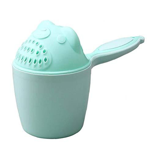 NIDONE Lavado 1pc Baby Shampoo Copa del Pelo De Cucharas De Bebé Ducha Bañera Caps Copa De Natación En Aguas Achicador Champú Copa-Verde