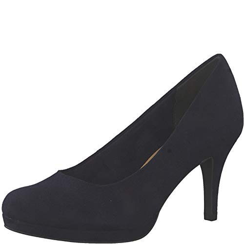 Tamaris Damen Pumps 22464-24, Frauen Plateaupumps, festlich Oktoberfest Dirndl Wiesn Trachten-Schuh weibliche Ladies,Navy,37 EU / 4 UK