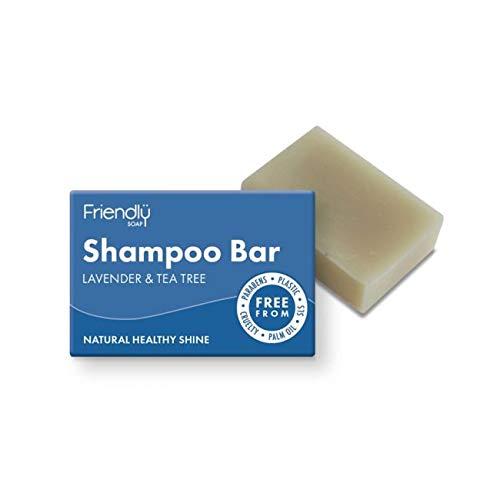 2 x Friendly Soap Natural Shampoo Bar Lavender and Tea Tree 95g